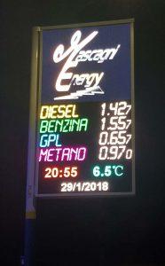 Totem stazione di benzina